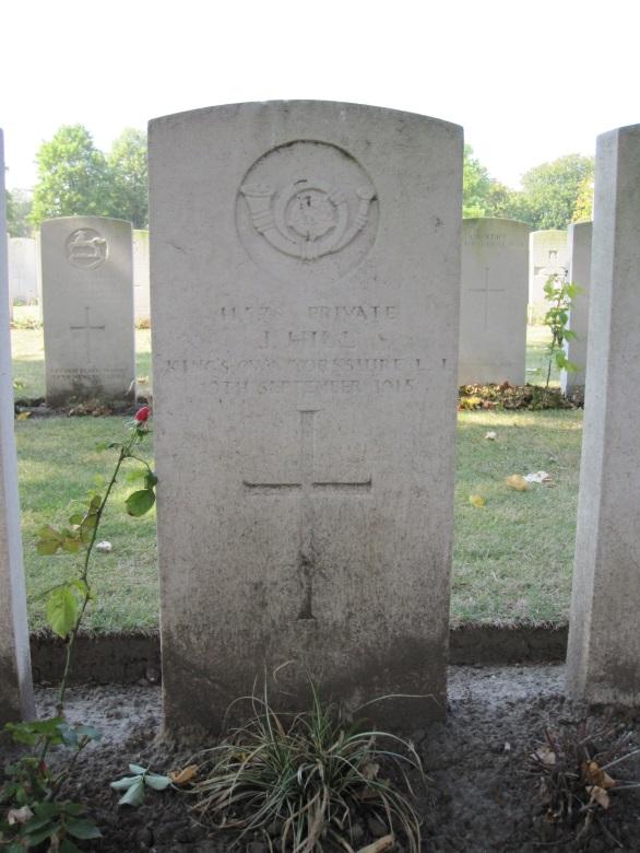Pte Jesse Hill, 6th (Service) Battalion, The King's Own (Yorkshire Light Infantry): 13 November 1895 to 19 September 1915. Never Forgotten (4/5)