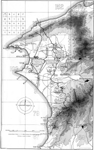 Map of Suvla Bay and ANZAC Cove from Gallipoli Diary, Vol. 2 by Sir Ian Hamilton - Edward Arnold, London - From Wikimedia Commons