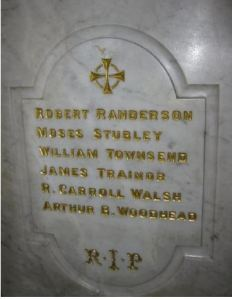 Robert Randerson, remembered on Batley St Mary's War Memorial