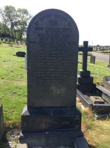 The Smith family headstone - including Albert Smith