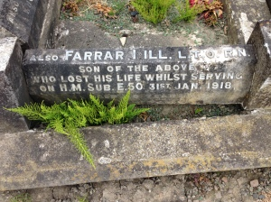 Farrar Hill - family headstone