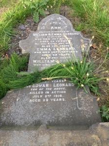 Headstone - Edward Leonard
