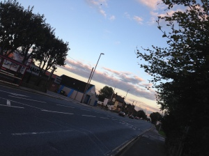 Photo taken at 6pm 8 October 2015 of the stretch of road where the accident happened looking towards The Stump Cross Inn