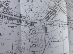 Map of Morley showing Britannia Road (scene of the accident) and other key locations such as America Moor, Garnett Street, Co-operative Road