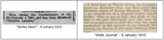 Shrapnel and Shelletta: Baby Names and their Links to War, Remembrance and Commemoration (1/5)