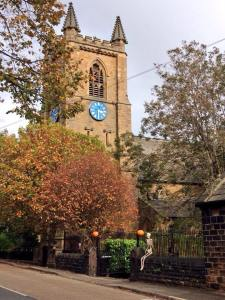 Staincliffe Church (with Halloween guest)