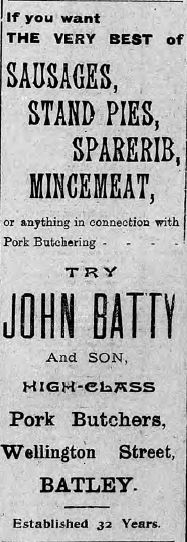 Festive Adverts and Shopping in Batley: A 1915 Christmas – Part 3: Food for Man and Beast (4/6)
