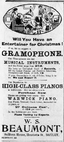 """Festive Adverts and Shopping in Batley: A 1915 Christmas – Part 1: """"The Home Beautiful"""" (5/5)"""