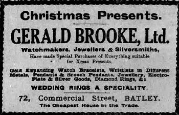 Festive Adverts and Shopping in Batley: A 1915 Christmas – Part 2: Gifts Galore for Man, Woman and Child (2/6)