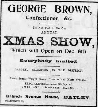 Brown confectioner 18 Dec 1915