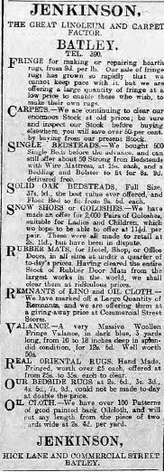 """Festive Adverts and Shopping in Batley: A 1915 Christmas – Part 1: """"The Home Beautiful"""" (1/5)"""