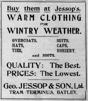 Festive Adverts and Shopping in Batley: A 1915 Christmas – Part 2: Gifts Galore for Man, Woman and Child (4/6)