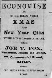Joe T Fox Batley 11 Dec 1915