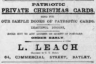 Leach Christmas Cards 4 Dec 1915