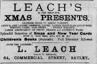 Leach's 18 Dec 1915