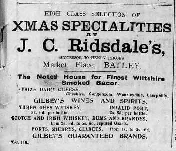 Festive Adverts and Shopping in Batley: A 1915 Christmas – Part 3: Food for Man and Beast (6/6)