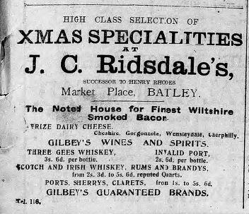 Ridsdale's 18 Dec 1915