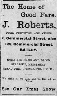 Festive Adverts and Shopping in Batley: A 1915 Christmas – Part 3: Food for Man and Beast (3/6)