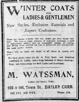 Festive Adverts and Shopping in Batley: A 1915 Christmas – Part 2: Gifts Galore for Man, Woman and Child (5/6)