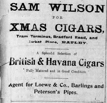 Wilson cigars 18 Dec 1915