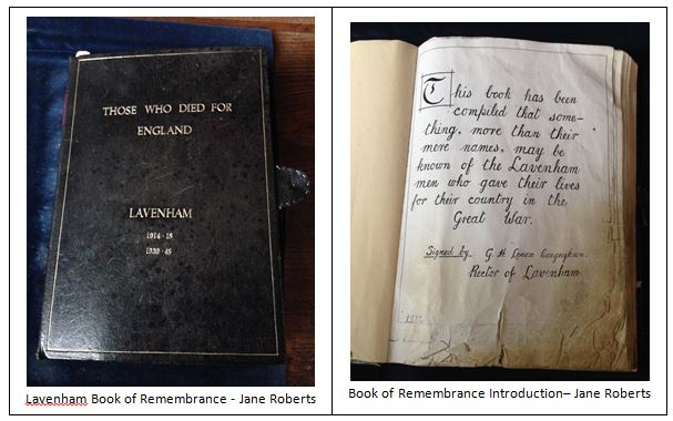Lavenham book of remembrance
