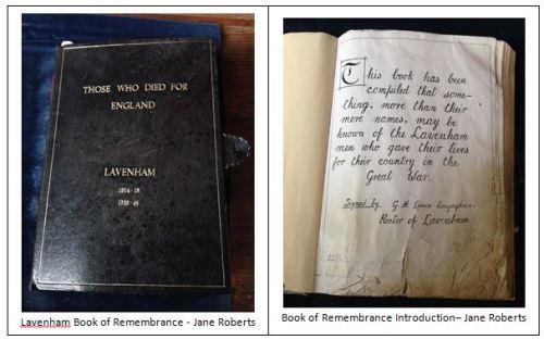 Lavenham book of remembrance