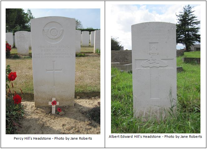 Albert and Percy Hill Headstones
