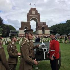 Great War Gun Carriage with RHA and Irish Guard - by Jane Roberts