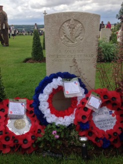 Unknown Soldier's Headstone - by Jane Roberts