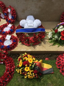Wreaths laid at the Cermony - by Jane Roberts